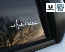 Honda Civic is in my Blood window sticker decals graphic