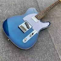 Standard Tele Electric Guitar Blue Glossy Boutique Chrome Hardware 22 Frets
