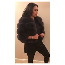 Real Fox Fur Cropped Jacket