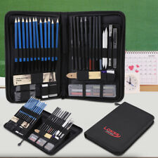 48pcs Professional Sketching Drawing Pencils Kit With Black Zippered Carry Bag