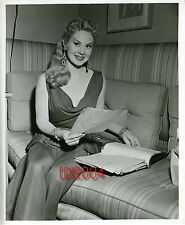VIRGINIA MAYO Original '54 Photo JACK WOODS Stamp