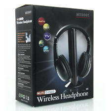 5 in 1 Portable Wireless Headphones Headsets for FM Radio MP3 PC TV Player