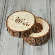 Rustic Wedding Ring Box Holder Custom Wooden Ring Bearer Box Wedding Gift