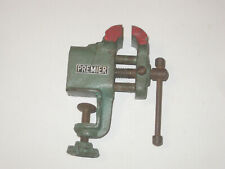 Vtg Mini Bench Desk Table Clamp Vise Jewelers Hobby Machinist Premier Tool Old