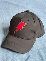 David Bowie Baseball Cap: Aladdin Sane Bolt Logo -black cotton one size fits all