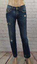 Jeans John Richmond da uomo taglia 31 pantaloni blu strappati in cotone usati