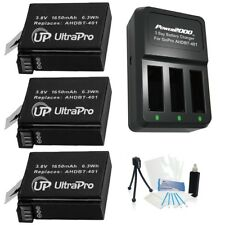 Ultrapro 3x AHDBT-401 Battery Bundle and 3-Channel Charger for GoPro Hero4