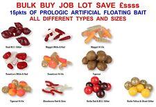 BULK 15pkts PROLOGIC  ARTIFICIAL FLOATING BAIT MAGGOTS WORMS TIGER NUTS BOILIES