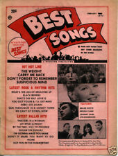 BEST SONGS 1970 Sheet Music MAGAZINE Box Tops JOHNNY CASH 5th Dimension GR ROOTS