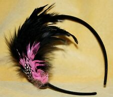 FEATHER TRIBAL Burlesque Belly Dance Dancing Gothic Goth EMO Hair Head Band