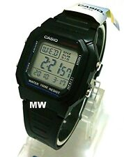 Authentic Casio W800h-1av Man's Kids Black Resin 100m Snooze Alarm Digital Watch