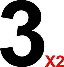 2 x MSA Specification Race Rally Car Number 3 - For Door Square Panels - 230mm