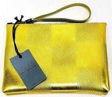 GUM Gianni Chiarini Design Busta Pochette Clutch Dama Metal Giallo Oro  Manico c9b8b625a73