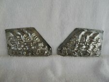 Chocolate Mold Three Gnomes on Sled Collectible Antique Vintage