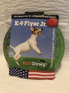 Ruff Dawg K9 Flyer/K9 Flyer Junior Dog Toy (Green Multi-Color)