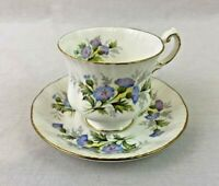 Paragon Tea Cup English Flowers Thistles Blue Purple White