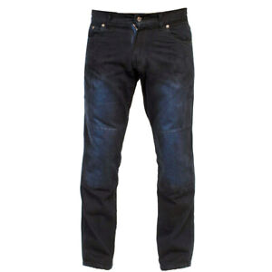Mens Motorcycle Pants Black Regular Fit Denim Jeans Armoured Protective Trousers