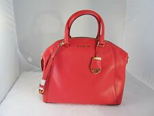 MICHAEL KORS WATERMELON RILEY  LEATHER LARGE SATCHEL HANDBAG