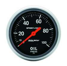 "Auto Meter 3421 Gauge Oil Pressure 2 5/8"" 100psi Mechanical Sport-Comp"