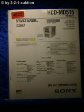 Sony Service Manual HCD MD515 Mini Component System (#4622)
