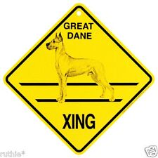 Great Dane Dog Crossing Xing Sign New Made in USA