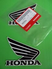 Honda GENUINE Wing Fuel Tank Decal Wings Stickers 95mm BLACK + WHITE *UK STOCK*