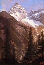 Dream-art Oil painting Canadian Rockies Asulkan Glacier Albert Bierstadt canvas