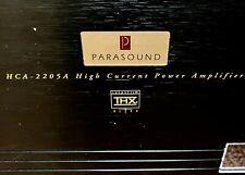 New listing Parasound Hca-2205A High Current Power Amplifier