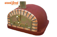 brick outdoor wood fired Pizza oven 90cmx90cm Maxi-Italian model in red