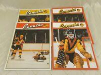 Vancouver Canucks Hockey Magazine 1984-85 Lot of 4 NHL Programs Oilers Gretzky