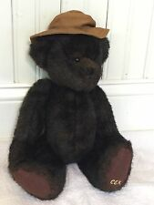 GANZ Cottage Collectibles 1997 Brown Plush Jointed Teddy Bear Carol E. Kirby 15""