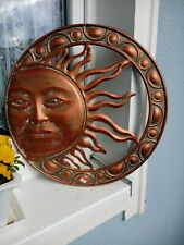 Wandbild Sonne Sun Patina Wandschmuck Metall in Bronze Optik, patiniert 51cm