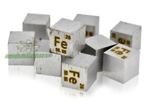 Iron metal 10mm Standard Density Cube 99.95% element collection NovaElements