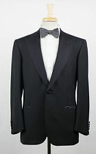 New. BRIONI Quirinale Black Wool Peak Lapels Tuxedo Suit Size 62/52 R $6895