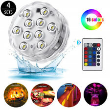 LED Pool Lights Submersible Remote Control 16 Different Static Modes Reusable