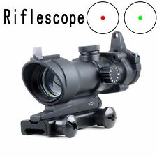 1x32 ACOG Style Rifle Scope Red/Green Dot Sight FULL METAL Weaver Rails Scope