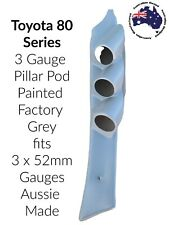 "to suit Toyota Landcruiser 80 Series TRIPLE  PILLAR POD ""NEW"" PAINTED GREY 3x52"