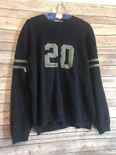 Vtg Eddie Bauer Sweater Pullover Navy Blue Sport Shop XL TALL 1990s Stripes # 20