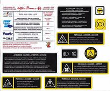 Alfa Romeo 156 (2003 On) Twin Spark / JTD / V6 / GTA Engine Bay Sticker Set