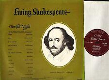 LIVING SHAKESPEARE twelfth night maggie smith/brenda bruce DEOB 12AM LP PS EX/VG