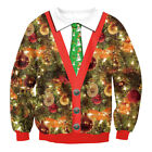 Women Men Christmas Ugly Sweater Unisex Winter Warm Knitted Pullover Jumper Tops