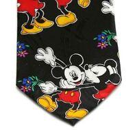 Disney Mickey & Minnie Novelty Unlimited Tie 100% Silk Excellent Condition Korea