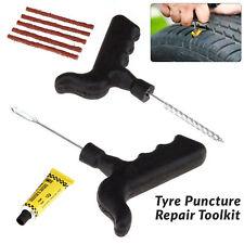 Emergency Car Van Bike Tubeless Tyre Puncture Repair Tool Kit With 5 Strip Set