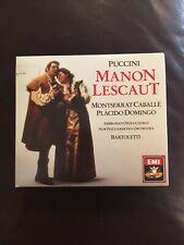 Puccini Manon Lescaut 2 CD rare 1987 W. German pressing Placido Domingo Caballe