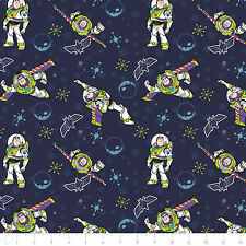 Toy Story Buzz Lightyear DK Blue Camelot Premium 100% cotton fabric by the yard