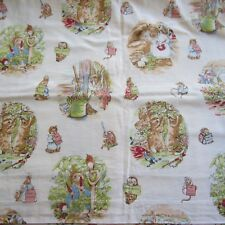 50CM X 118CM Vintage Cotton Curtain Fabric 1990S Peter Rabbit Novelty Crowther