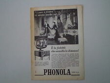 advertising Pubblicità 1959 TELEVISORE PHONOLA MOD. 2118
