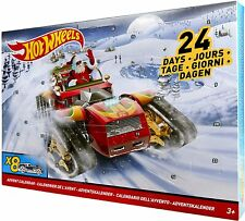 Hot Wheels 24 Day Advent Calendar DXH60 with 8 Full-Size Cars & 16 Accessories