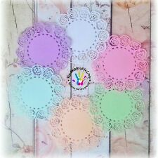 """3.5"""" Rose Doily, 1 pack of 10pcs. Material double sided cardstock."""