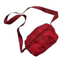Prada Shoulder Bag Red Vela Nylon Crossbody